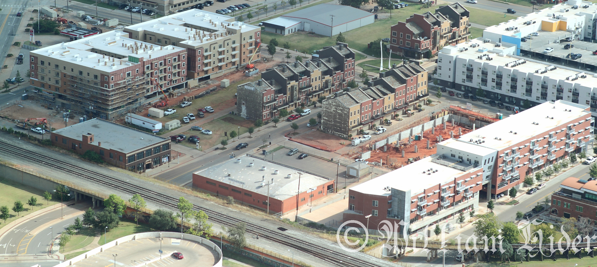 Residential construction in Oklahoma City's Deep Deuce neighborhood. Photo by William Hider.