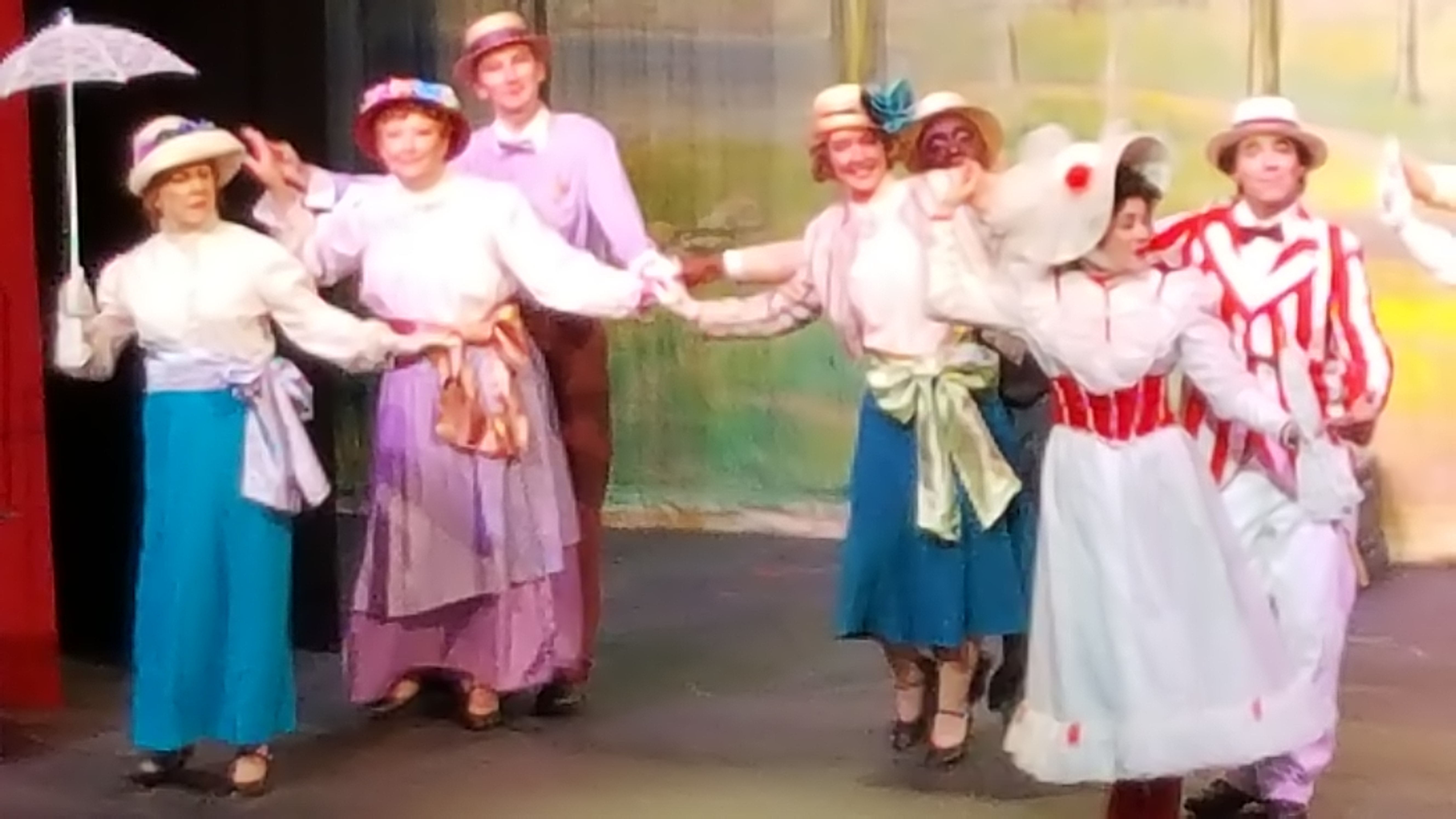 The cast of Mary Poppins perform at the Muskogee Little Theater